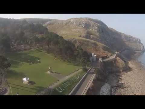 DJI Phantom Drone Flight at Llandudno in Wales UK
