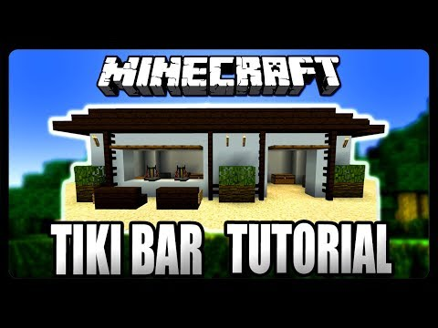 Minecraft: How To Build A Tiki Bar Tutorial