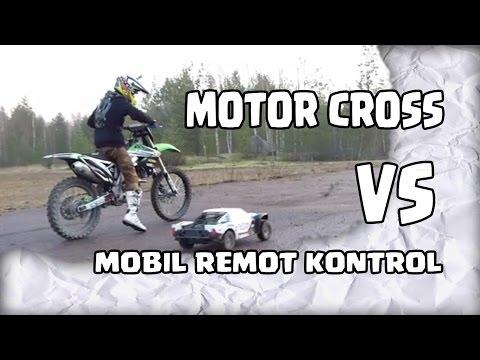Drag Bike - Motor Cross Vs Mobil Remot Kontrol