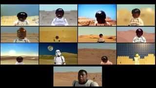 "12 LEGO ""Star Wars: The Force Awakens"" teaser trailers (split screen)"