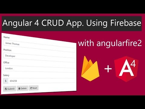Angular 4 CRUD Application Using Firebase