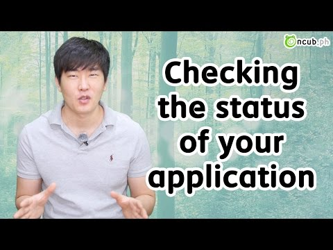 How to check your application status