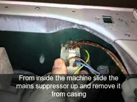 How to change mains suppressor on a washing machine