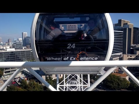Riding the SkyView Atlanta Ferris Wheel in Atlanta, Georgia