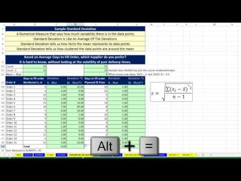 Basic Excel Business Analytics #23: Variability: Variance, Standard Deviation, Z-score and more