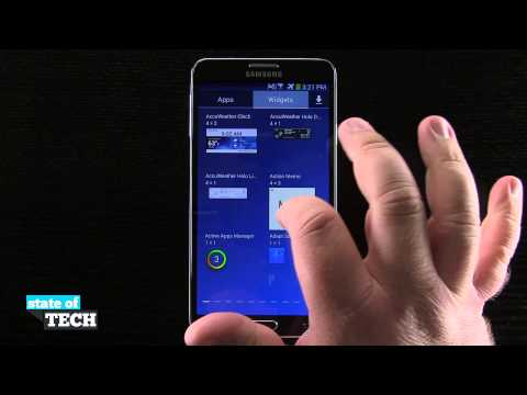 Samsung Galaxy Note 3 Tips - Add Widgets to the Home Screen