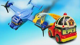 Download Робокар Рой спасает самолет - Машины сказки - Видео для детей с игрушками Video