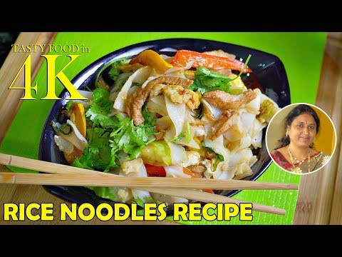 How to Cook Rice Noodles with Vegetables Egg Chicken | 4K