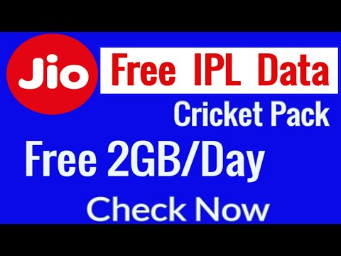 Jio Offer Free Cricket Pack 2GB per Day How to get jio ipl free data on your jio app full hindi 2018