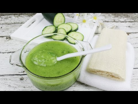 At Home Spa: Fresh Cucumber Mint Body Scrub with Added Essential Oils