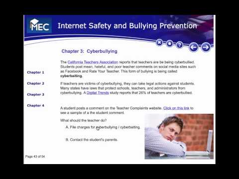 Internet Safety Lesson 10: Stopping Cyberbullying