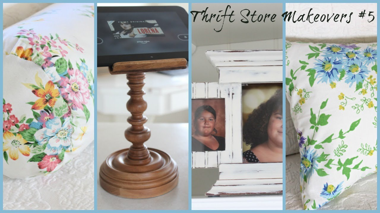 Thrift Store Makeovers #5 |  Farmhouse Cottage Style
