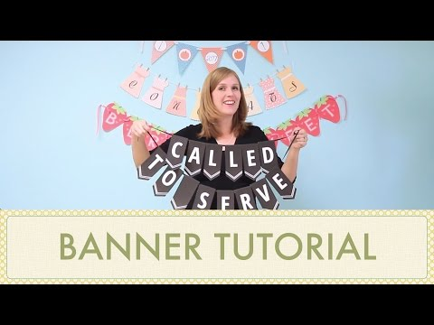 How to Make a Banner or DIY Bunting Using Printables - Party Banner Tutorial