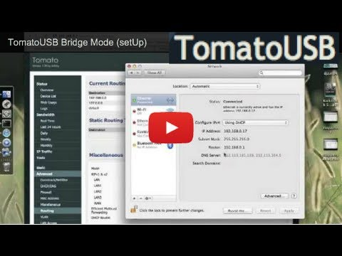 TomatoUSB Bridge Mode (setUp)