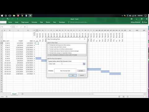 Making Gantt Chart in Excel
