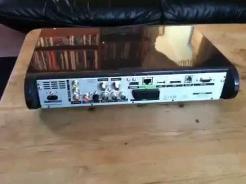 Sky 1 TB HD box 360 view of front panel and connections
