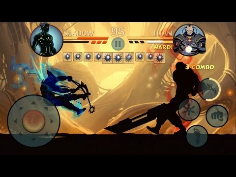 [Eclipse] Defeating TITAN, NO ATTACK - Shadow VS Titan - Shadow Fight 2