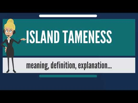 What is ISLAND TAMENESS? What does ISLAND TAMENESS mean? ISLAND TAMENESS meaning & explanation