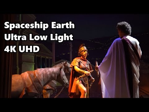 Spaceship Earth | Ultra Low Light | Full Ride - 4K UHD | Epcot
