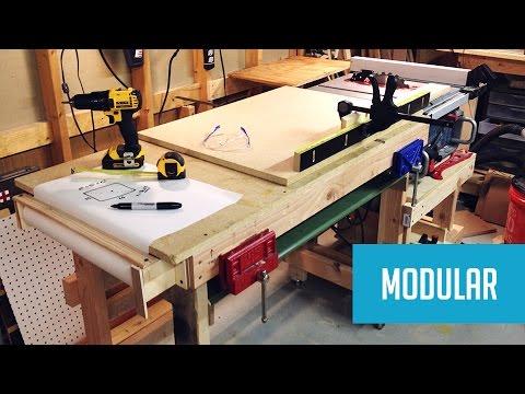 Modular Mobile Table Saw Station