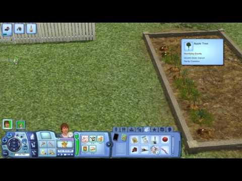 The Sims 3 Ep 10 Starting a garden