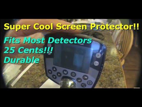 Metal Detector Screen Protector and Sun Visor for 25 cents! FITS MOST DETECTORS!
