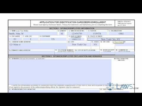 Learn How to Fill the DD form 1172 Application for Identification Card/DEERS Enrollment