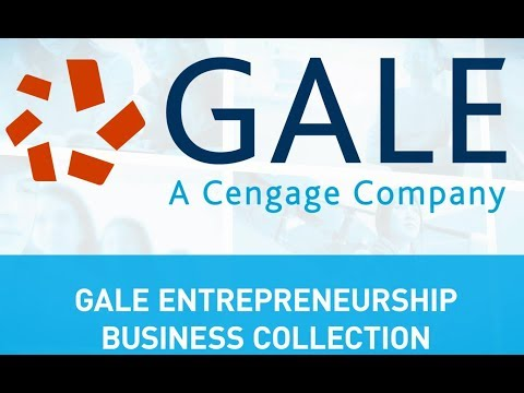Gale Entrepreneurship: The Resources Within