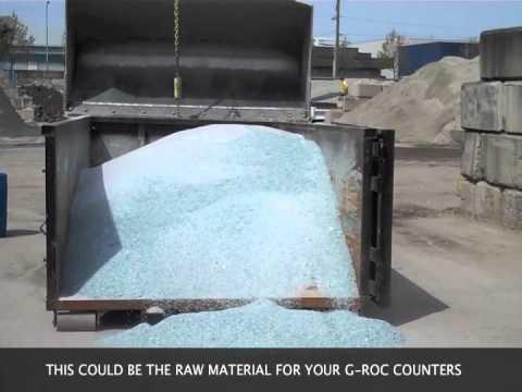 Custom Concrete Boardroom Table, Recycled Glass Countertops, G-ROC, Victoria, BC