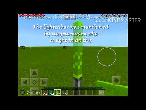 How to make a lightsaber|Minecraft pe