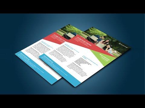 Photoshop Tutorial | Corporate Flyer Design in Adobe Photoshop CS6