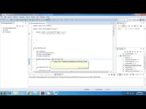 Java Banking Application Project full tutorial