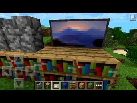 How to build a computer in minecraft PE