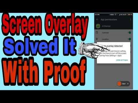 how to fix screen Overlay Detected on all phone redmi 3s/prime /note 3/note 4 in hindi