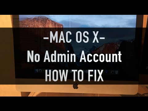 No Admin Account Fix Mac / Change Other User Passwords With New Account -Mac OS-