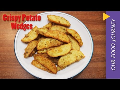 Crispy potato wedges recipe fried