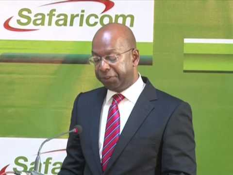 Safaricom FY 2013 Results Annoucement- Bob Collymore