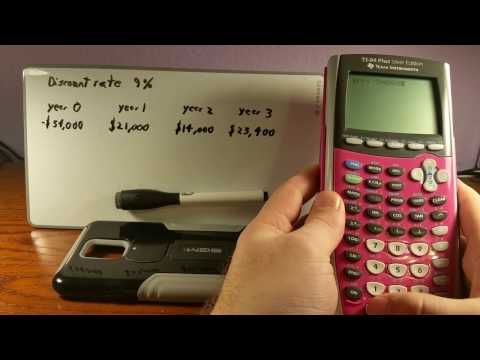 Internal Rate of Return IRR with TI 84