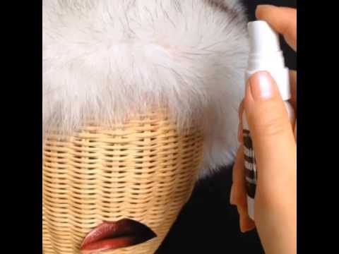 How to remove a lipstick stain from fur garment
