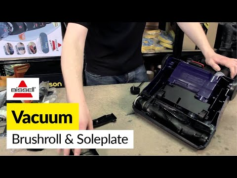 How to replace the brush roll and soleplate on a Bissell vacuum cleaner