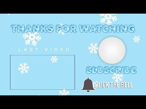 ANIMATED CHRISTMAS/WINTER OUTRO TEMPLATES | 2018