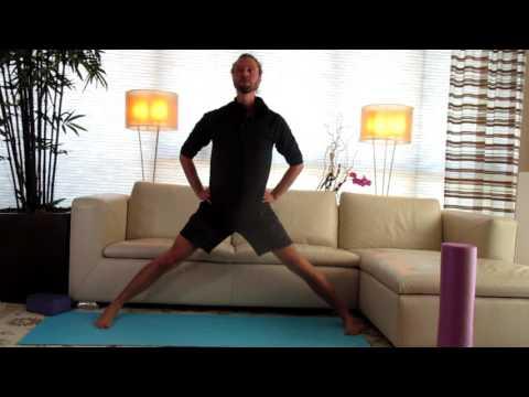 Wide Legged Stretch:  Yoga with Matthew