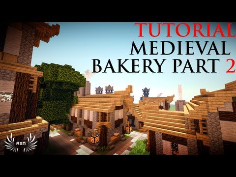 Minecraft - How to Build a Medieval Bakery (Part 2/2)