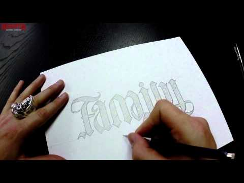 Family / Forever Ambigram time lapse by Mark Palmer - Red Chapter Clothing Co.