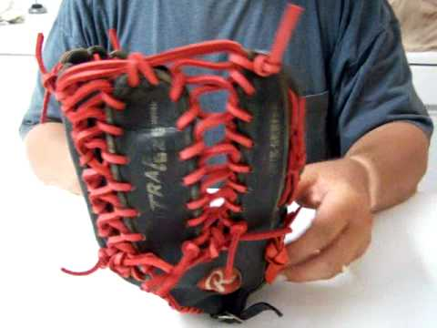 Black Rawlings Trapeze...Red Laces & Thumb Loop