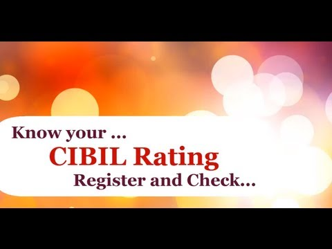 Know your CIBIL Rating Online