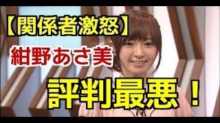 【関係者激怒】紺野あさ美の評判が最悪!