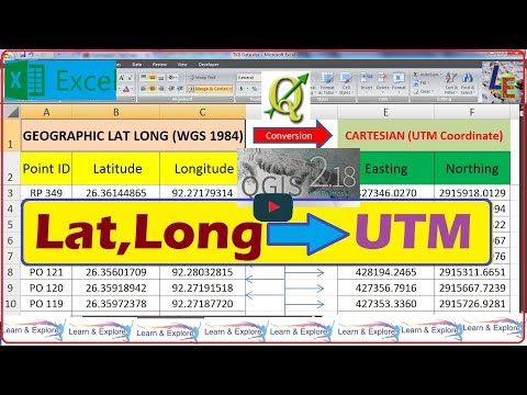 How to convert Lat Long to UTM (Easting,Northing) | by QGIS Software (English)