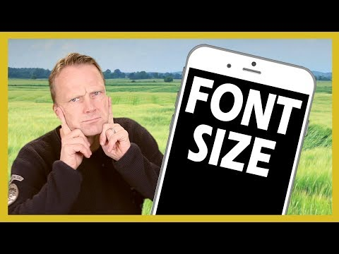 How to change Font Size smaller or larger on iPhone or iPad 2018