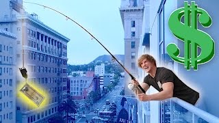 FISHING FOR PEOPLE OFF MY BALCONY! (**Money Bait**)